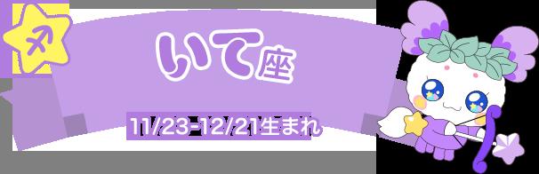 いて座 11/23-12/21生まれ